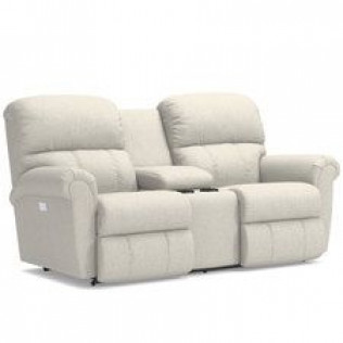 Briggs Power Reclining Loveseat with Headrest and Console