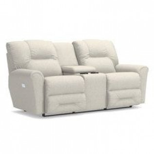 Easton Power Reclining Loveseat with Headrest and Console