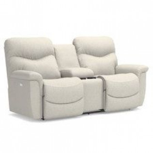 James Power Reclining Loveseat with Console